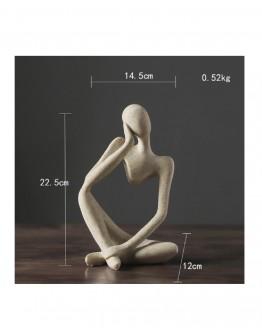 Minimalistinio stiliaus abstraktaus mąstytojo statula