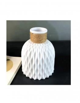 Vazos Imitacija Plastikinė Balta