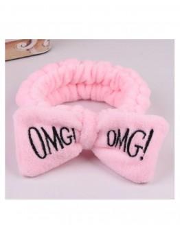 Plaukų juosta OMG! rožinės spalvos