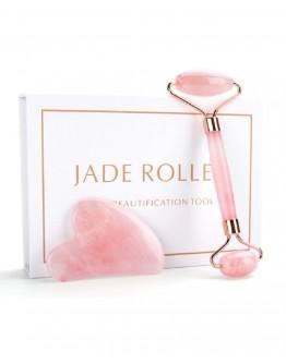 Veido masažuoklių rinkinys rožinio Kvarco Jade